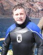 After a dive with the white sharks.