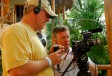 Tim and Jonathan playing with a little HDV camera, Holbox Mexico.  This was our first HD camera!