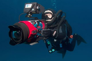 Jonathan filming in the Bahamas. Photo by Todd Kelly.